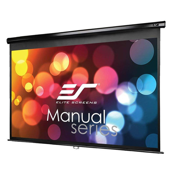 Image for Elite Screens Manual 92in 16:9 Pulldown Projection Screen - Black AusPCMarket