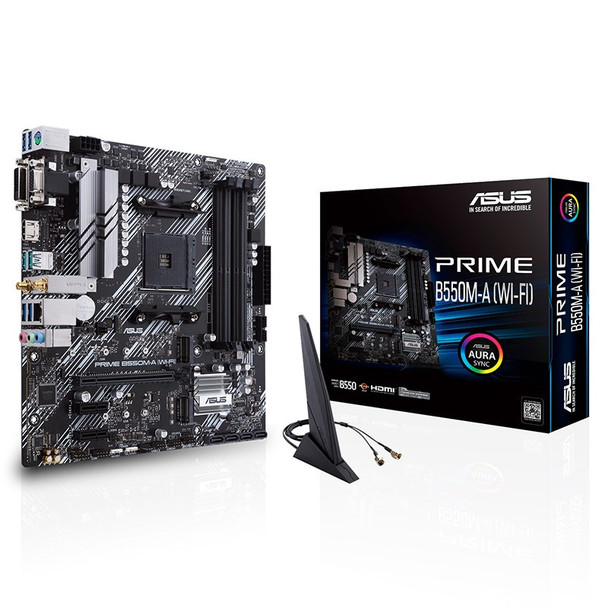 Image for Asus PRIME B550M-A WIFI AM4 Micro-ATX Motherboard AusPCMarket