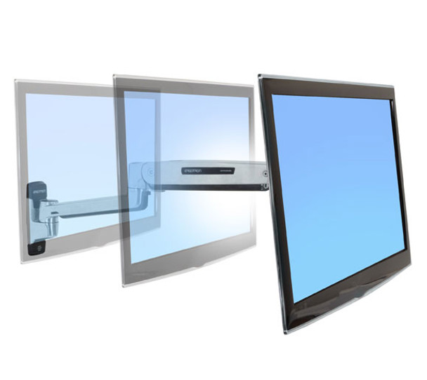 Ergotron LX Sit-Stand Wall Mount LCD Arm - Support up to 42in Display - Polished Product Image 3