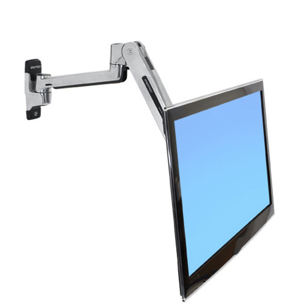 Ergotron LX Sit-Stand Wall Mount LCD Arm - Support up to 42in Display - Polished Product Image 5