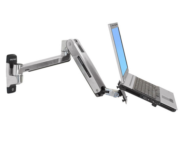 Ergotron LX Sit-Stand Wall Mount LCD Arm - Support up to 42in Display - Polished Product Image 6