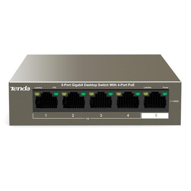 Image for Tenda TEG1105P-4-63W 5-Port Gigabit Unmanaged Ethernet Switch with 4-Port PoE AusPCMarket