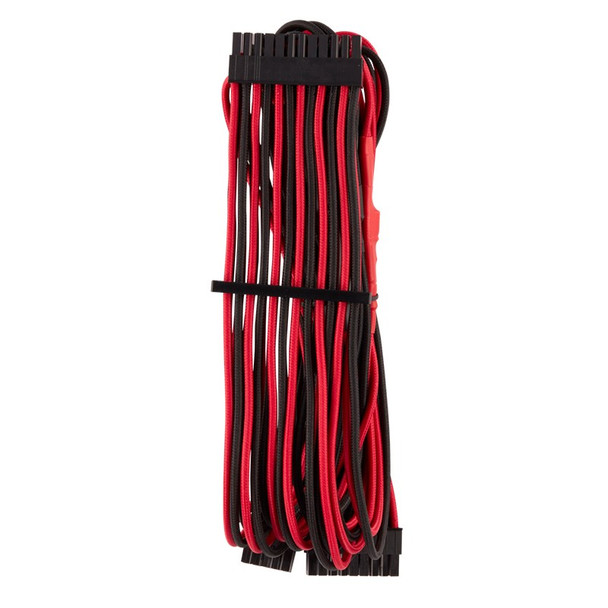 Corsair Premium Individually Sleeved PSU Cables Pro Kit - Red/Black Product Image 2