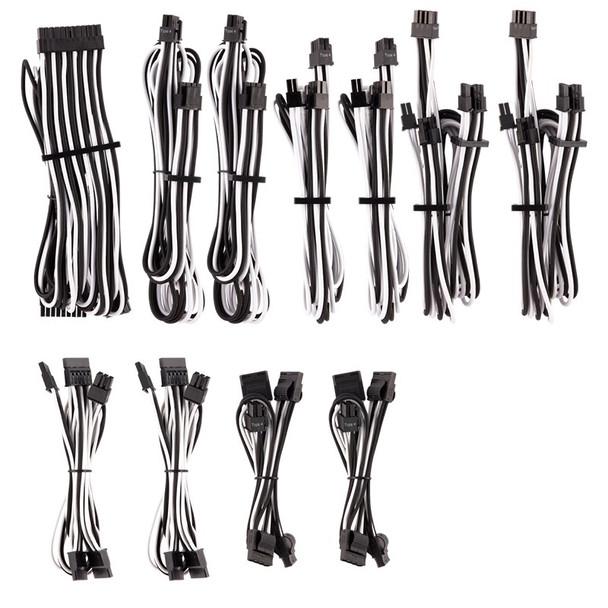 Image for Corsair Premium Individually Sleeved PSU Cables Pro Kit - White/Black AusPCMarket