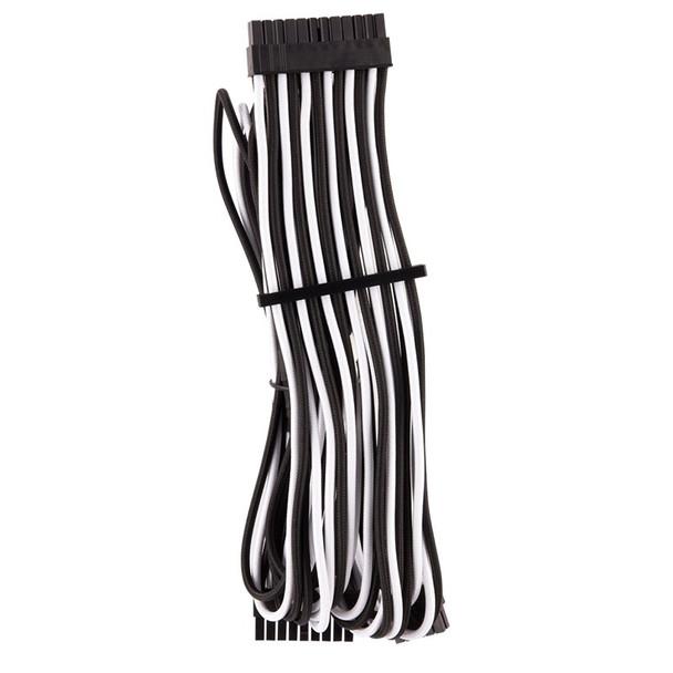 Corsair Premium Individually Sleeved PSU Cables Pro Kit - White/Black Product Image 2