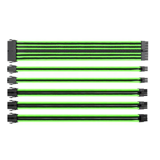 Image for Thermaltake TtMod Sleeved PSU Extension Cable Set – Green/Black AusPCMarket