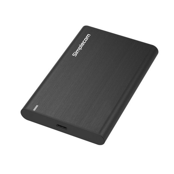 Image for Simplecom SE221 Aluminium 2.5in SATA HDD/SSD USB3.1 Enclosure - Black AusPCMarket