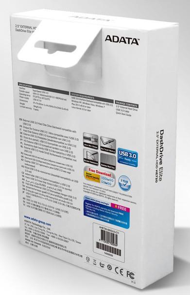 Adata DashDrive Elite HE720 1TB USB3.0 Portable External Hard Drive - Titanium Product Image 5