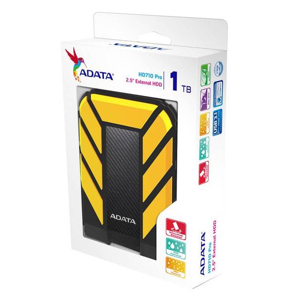 Adata Rugged Pro HD710 1TB USB 3.0 Portable External Hard Drive - Yellow Product Image 5