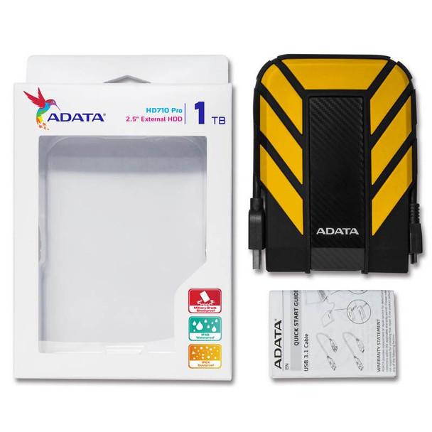 Adata Rugged Pro HD710 1TB USB 3.0 Portable External Hard Drive - Yellow Product Image 6