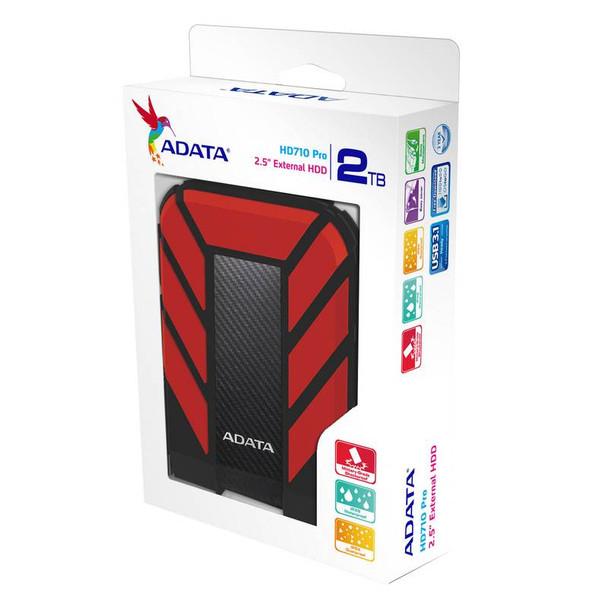 Adata Rugged Pro HD710 2TB USB 3.0 Portable External Hard Drive - Red Product Image 5
