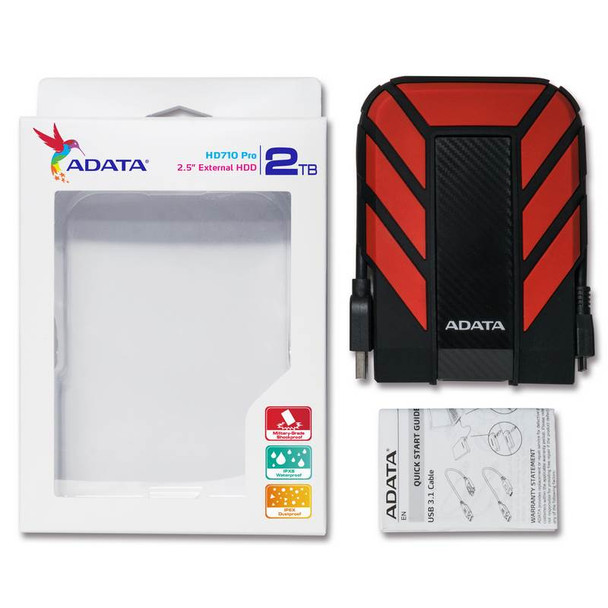 Adata Rugged Pro HD710 2TB USB 3.0 Portable External Hard Drive - Red Product Image 6