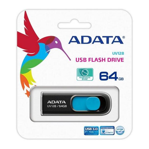 Adata 64GB UV128 DashDrive USB 3.0 Flash Drive - Blue Product Image 5