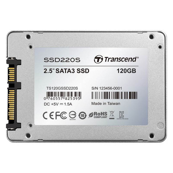 Transcend SSD220 120GB 2.5in SATA3 SSD TS120GSSD220S Product Image 5