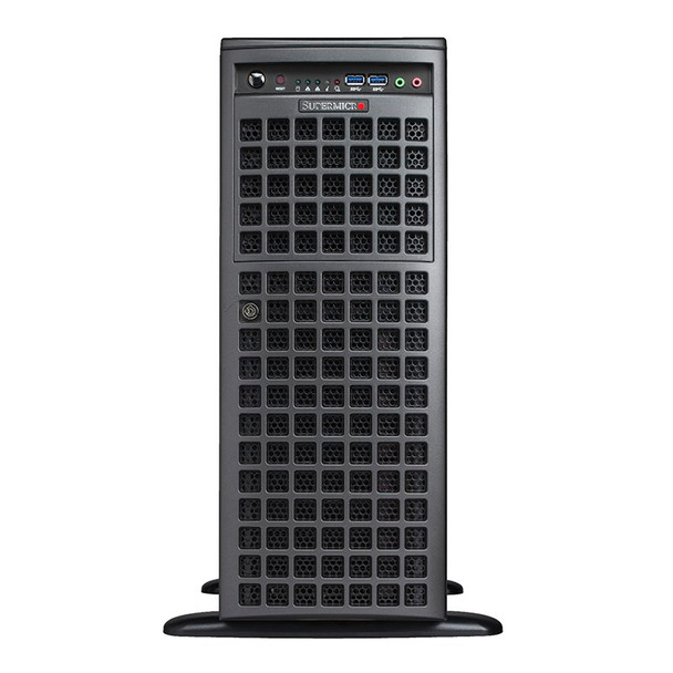 Supermicro SuperWorkstation 7049GP-TRT CPU (0/2) RAM (0/16) GPU (0/4) 2200W RPS Product Image 2