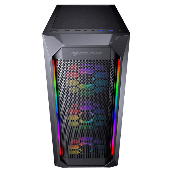 Cougar MX410 Mesh-G RGB Tempered Glass Mid-Tower ATX Case Product Image 3