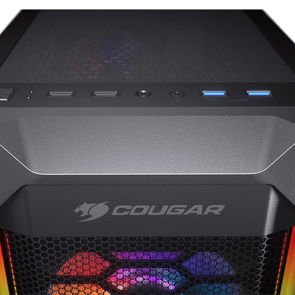 Cougar MX410 Mesh-G RGB Tempered Glass Mid-Tower ATX Case Product Image 4