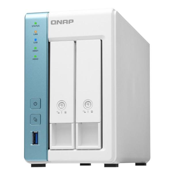 QNAP TS-231P3-4G 2 Bay Diskless NAS Quad Core 1.7GHz CPU 4GB RAM Product Image 3