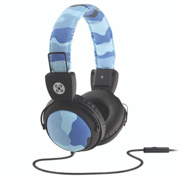 Image for Moki Camo Headphones with In-Line Mic - Blue AusPCMarket