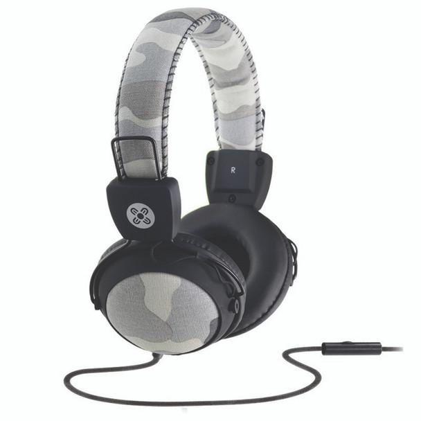 Image for Moki Camo Headphones with In-Line Mic - Grey AusPCMarket