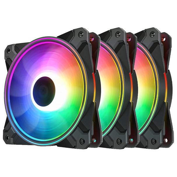 Image for Deepcool CF120 PLUS 120mm A-RGB LED Case Fan - 3 Pack AusPCMarket