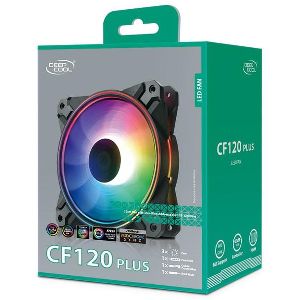 Deepcool CF120 PLUS 120mm A-RGB LED Case Fan - 3 Pack Product Image 4