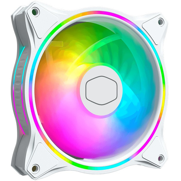 Cooler Master MF120 Halo ARGB 120mm Case Fan - White Edition Product Image 2