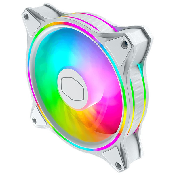 Cooler Master MF120 Halo ARGB 120mm Case Fan - White Edition Product Image 4