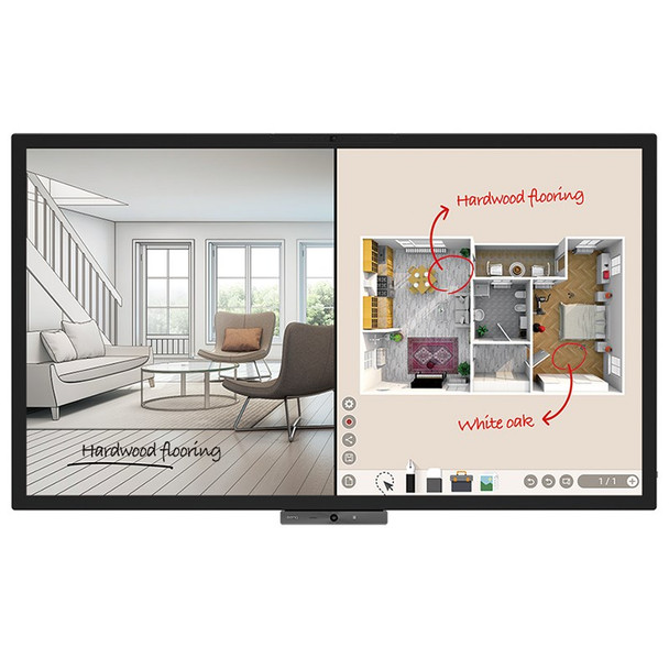 Image for BenQ CP6501K 65in DuoBoard Corporate Interactive Flat Panel AusPCMarket