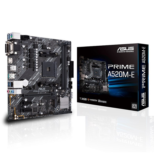 Image for Asus PRIME A520M-E AM4 Micro-ATX Motherboard AusPCMarket