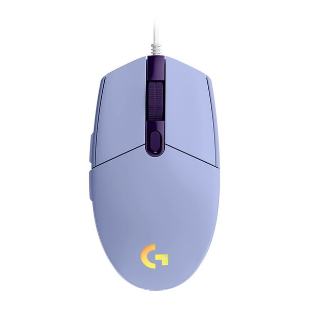 Logitech G203 LIGHTSYNC Gaming Mouse - Lilac Product Image 3