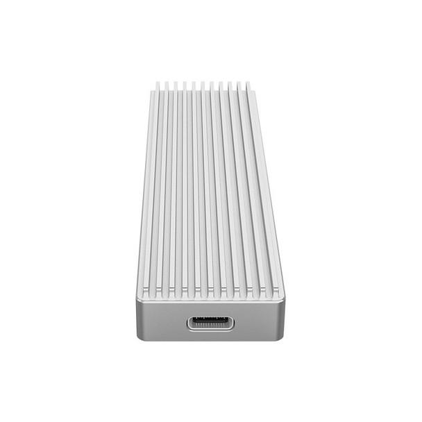 Image for Orico M2PJ-C3 Aluminium M.2 NVMe SSD to USB-C Enclosure - Silver AusPCMarket