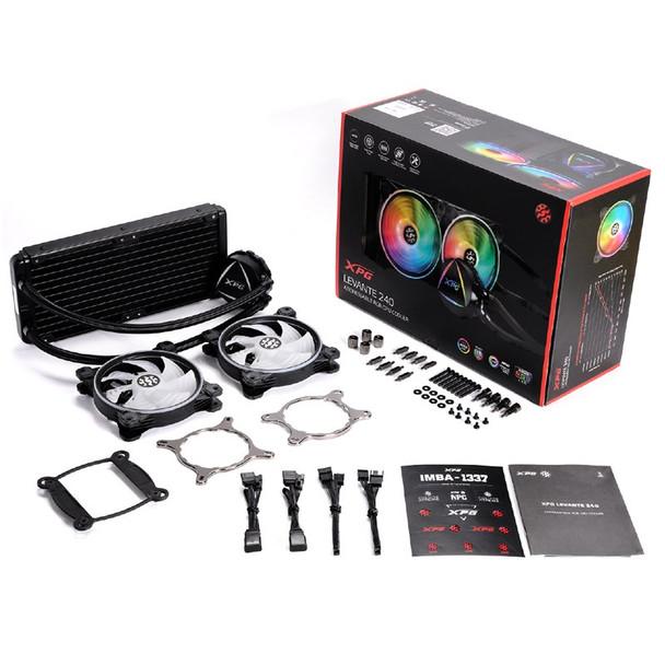 Adata XPG Levante 240 ARGB LED 240mm All-in-One Liquid CPU Cooler Product Image 4