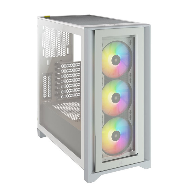 Corsair iCUE 4000X RGB Tempered Glass Mid-Tower ATX - White Product Image 3