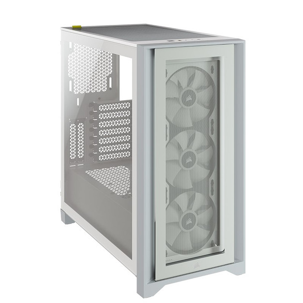 Corsair iCUE 4000X RGB Tempered Glass Mid-Tower ATX - White Product Image 4