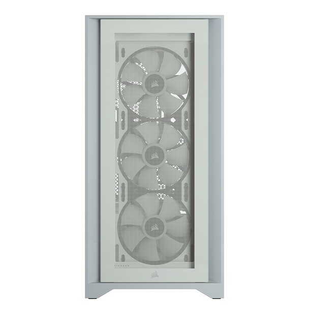 Corsair iCUE 4000X RGB Tempered Glass Mid-Tower ATX - White Product Image 5