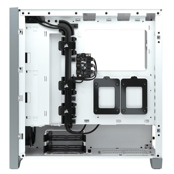 Corsair iCUE 4000X RGB Tempered Glass Mid-Tower ATX - White Product Image 7