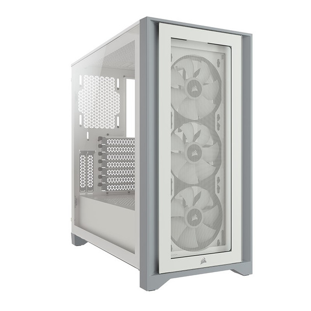 Corsair iCUE 4000X RGB Tempered Glass Mid-Tower ATX - White Product Image 10