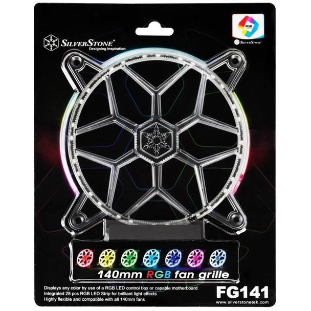 Image for SilverStone FG141 140mm RGB LED Fan Grille AusPCMarket