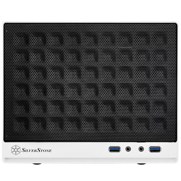 SilverStone Sugo Series SG13WB Small Form Factor Mesh Front Case - White/Black Product Image 4