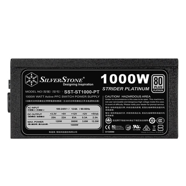 SilverStone Strider Platinum 1000W 80+ Fully Modular Power Supply Product Image 4