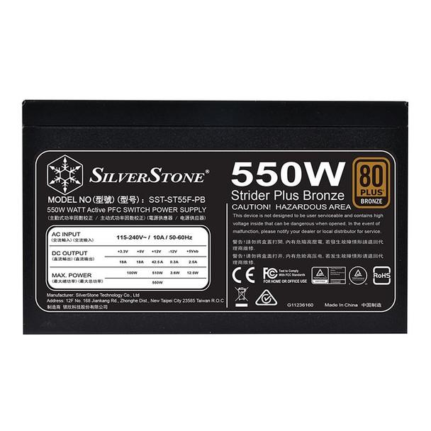 SilverStone Strider ST55F-PB 550W 80 Plus Bronze Fully Modular Power Supply Product Image 4