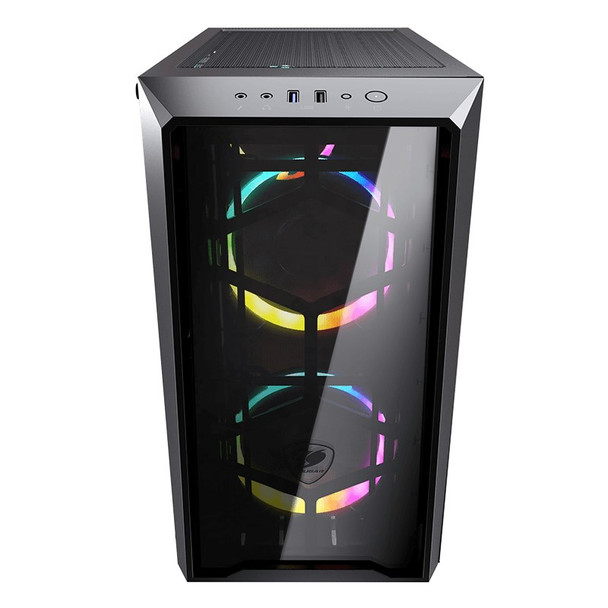 Cougar MG120-G RGB Tempered Glass Micro-ATX Mini Tower Case - Black Product Image 2