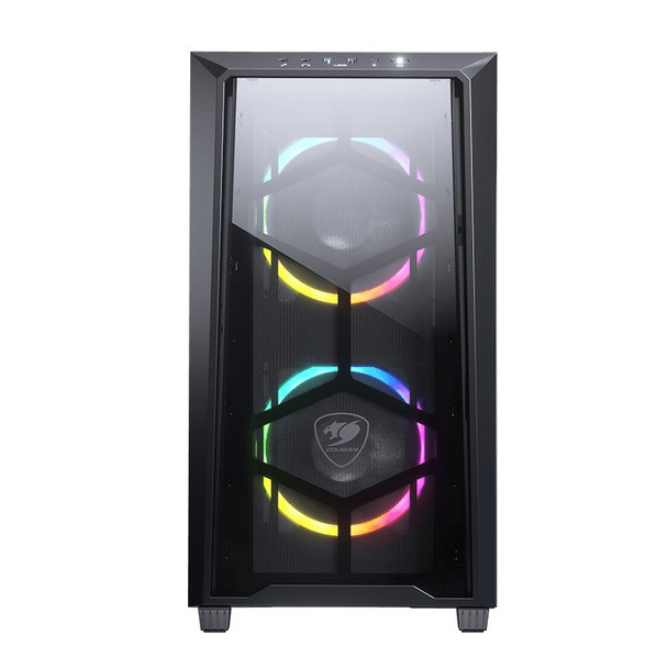 Cougar MG120-G RGB Tempered Glass Micro-ATX Mini Tower Case - Black Product Image 3