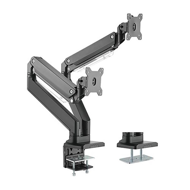 Image for Brateck Dual Arm Full Extension Gas Spring Monitor Mount - 17in-35in AusPCMarket