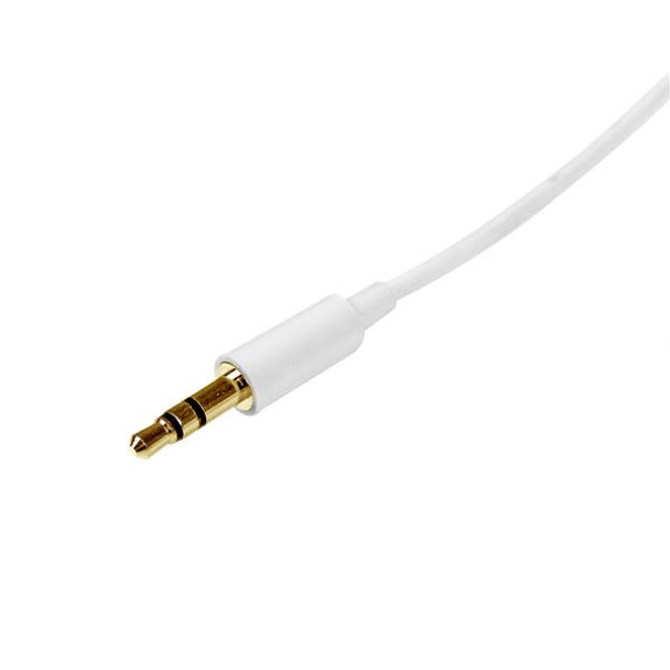 StarTech 2m 3.5mm Audio Aux Stereo Cable - Male to Male Product Image 2