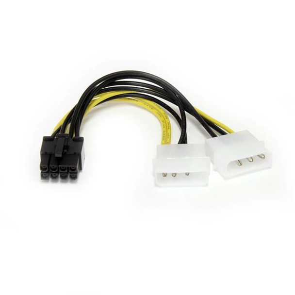 Image for StarTech 6in LP4 to 8 Pin PCI Express Video Card Power Adapter AusPCMarket