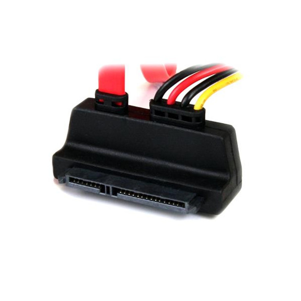 StarTech 18in Upward Right Angle SATA Cable with LP4 Adapter Product Image 2
