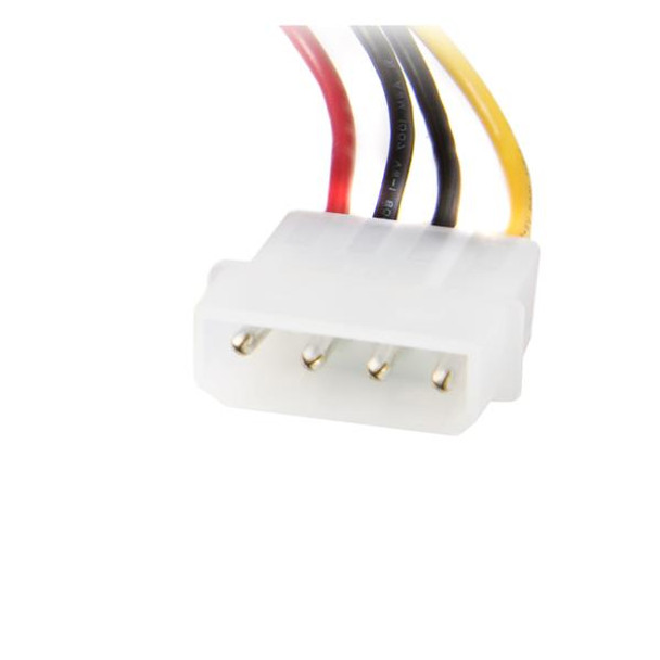 StarTech 18in Upward Right Angle SATA Cable with LP4 Adapter Product Image 4