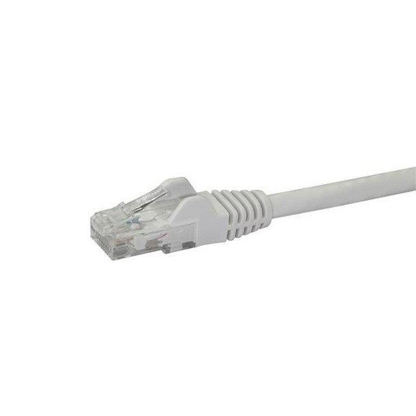 StarTech 1m Cat6 White Snagless Gigabit Ethernet RJ45 Cable Product Image 2